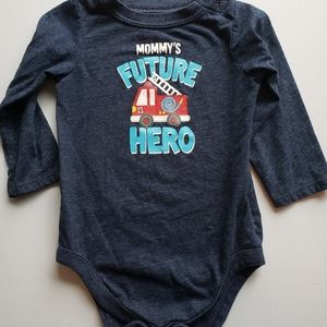 12 months future hero onsie